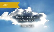 Pass Along Scripture Cards, Joy, Psalms 126:5, Pack 25