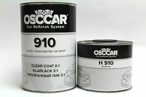 OSCCAR 910 2K CLEARCOAT 1.5L kit ANTI SCRATCH LACQUER FAST HARDENER/ACTIVATOR