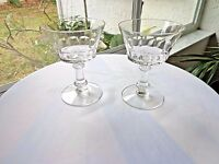 Set of 2 Fostoria Dolly Madison Clear Glass Champagne Glasses