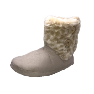 WOMENS LADIES SLIPPER BOOTS SLIPPERS SOFT COSY WARM