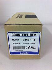 1 PCS  New AUTONICS Counter Timer CT6S-1P4 AC 100-240V