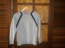Sweat-shirt *HUGO BOSS, gris clair, col rond, manches longues. 12 ans