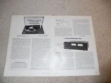 Revox B-790 Turntable Review, 2 pgs, Full Test, 1979
