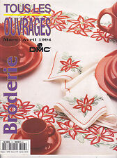 Tous les ouvrages Broderie DMC N°13 mars-avril 1994