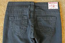 TRUE RELIGION SEXY DISCO CANDICE 26X33 Jeans NWOT$289 Dark Flare Leg Stretch!USA