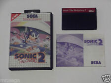 SONIC THE HEDGEHOG 2 for SEGA MASTER SYSTEM 'VERY RARE & HARD TO FIND'