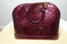 Louis Vuitton Alma MM Monogram Violette Vernis Leather Bag AUTHENTIC