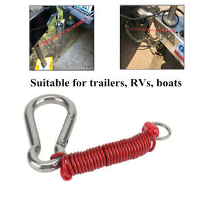 80MM-Safety Buckle Foot Breakaway Cable Spring Clip RV Boat Trailer Connector