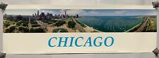 Vtg Taste Of Chicago 325 Degree Panoramic Poster By Sky Pan International (A10)