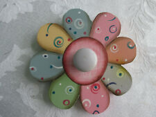 Painted Flower Wall Knob/Hanger NEW