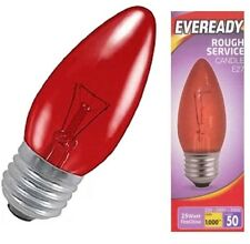 Eveready 25w Red Fireglow Candle Bulb – Edison Screw (ES)