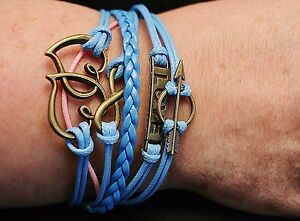 Blue Friendship Bracelet - Gift Pouch - UK Seller