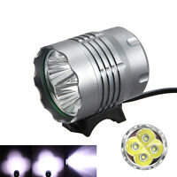 Powerful 10000Lm 4x XML T6 LED Head Front Bicycle Lamp Bike Light MTB Headlight