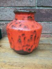 Fat Lava West Germany Studio Art Pottery Vase