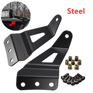 Cars Offroad Vehicle Windshield Mounting Brackets Roof LED Light Strip Bracket
