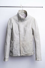 Carol Christian Poell Grey Kangaroo High Neck Leather Jacket LM/2599 sz 52