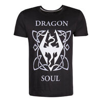 THE ELDER SCROLLS Skyrim Dragon Soul T-Shirt Male Extra Extra Large Black