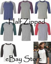 Anvil Baseball T-Shirt - Triblend Raglan Sleeve Shirt 6755 S-2XL NEW