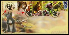 2014 Squirrel,Hazelnut,Bear,Wi ld boar,Hazelnuts,Grapes,Sta rling,Romania,6861/Fdc