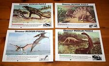lot of 4 vintage 1982 SCHOLASTIC Inc DINOSAUR MUSEUM Tray PUZZLES