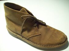Clarks Bushacre Chukka Brown Leather Oxford Ankle Boots Size 8 @ cLOSeT 26082286