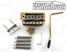 Wilkinson ® guitar tremolo bridge WVPC gold finish, steel block steel saddles