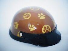 Helmet Hat Cap Dog Cat Costume Accessory Pet Supplies Safety Brown Footprint