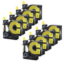 8pk For Dymo Rhino 42005200 Heat Shrink Tube 18056 Industry Label Tape 12x5
