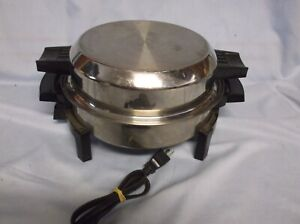 WEST BEND LIQUID CORE 17209 STAINLESS STEEL ELECTRIC SKILLET GUC GREAT CONDITION