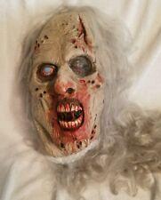 OOAK Gray hair Zombie  latex rubber mask handmade by Terry Cruikshank