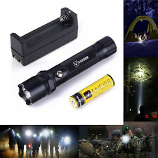 Super Bright Police 5000 Lumens LED Flashlight Torch Lamp +18650 Battery+Charger