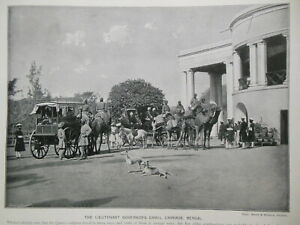 Victorian Photo Illustration (1897) Bengal Governor's Carriage/South Africa Gold