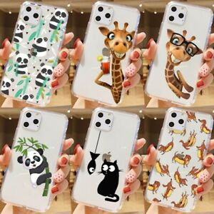 Giraffe  Cat Deer Animal Patterned Phone Case for iPhone 12 11 Pro Max 7 7S 6 6S