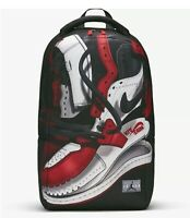 Nike Air Jordan Retro 1 OG Shoe Backpack Black Gym Red 9A0484-KR5 Lap Top Bag