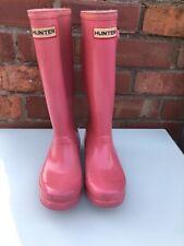 Pink Hunter Wellies UK 3 Hardly Used. £100
