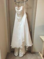 David's Bridal Ivory Corset Size 16 Wedding Dress