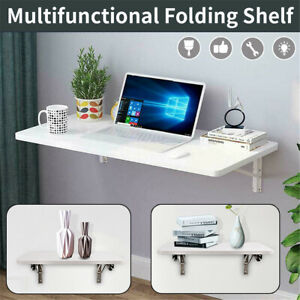 Wall Mount Floating Folding Computer Desk For Home Office PC Table Furnitur
