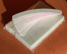 10 Studio Buffer und 10 Banane Feilen 100/180  Alle in Weiß