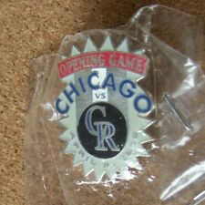 1996 Colorado Rockies vs Chicago Cubs Opening Game lapel pin
