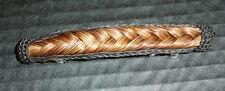 "Western Cowgirl Hair Decor Horsehair French Braid Barrette 4 1/2"" Long"