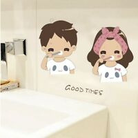 Bathroom Glass Sticker Teething Boy&Girl Lovely Wall Stickers Home Decor G9Z