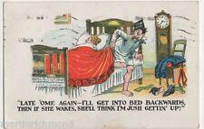 Late 'Ome Again, 1923 Comic Postcard, B428