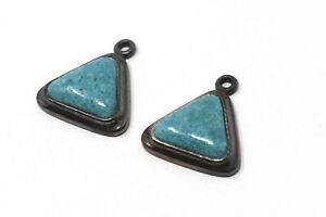 A Pair Of Vintage Sterling Silver 925 Turquoise Drop/Dangle Earrings A/F #32465