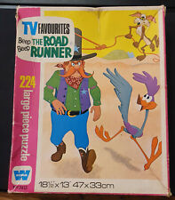 Vintage Whitman TV Favourites Roadrunner 224pc Jigsaw Puzzle Used - Charity Sale
