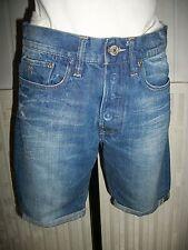 Pantalon court pantacourt short jeans G-STAR RAW DENIM W28 38FR brodé 16VH36