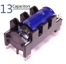 13 Epcos Low ESR Aluminum Electrolytic Capacitor w/Holder & Pins 5600uF @ 35V