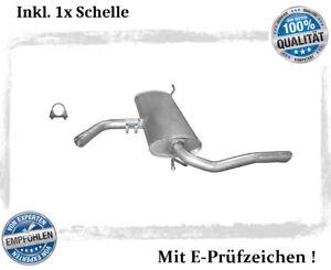 Endschalldämpfer für Seat Altea XL / Toledo III 1.6 1.9 TDI Auspuff Schelle