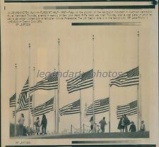 1991 Half-Mast Flags at Washington Monument Original Laserphoto