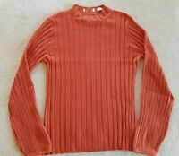 Sass & Bide Orange Electric Feels Knit Size S Wool Long Sleeve Jumper Stretch