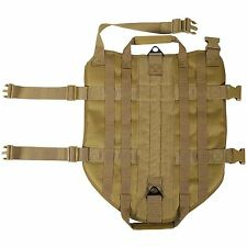 LIVABIT Tan Police K9 Dog Tactical 1000D Molle Vest Canine Harness Medium